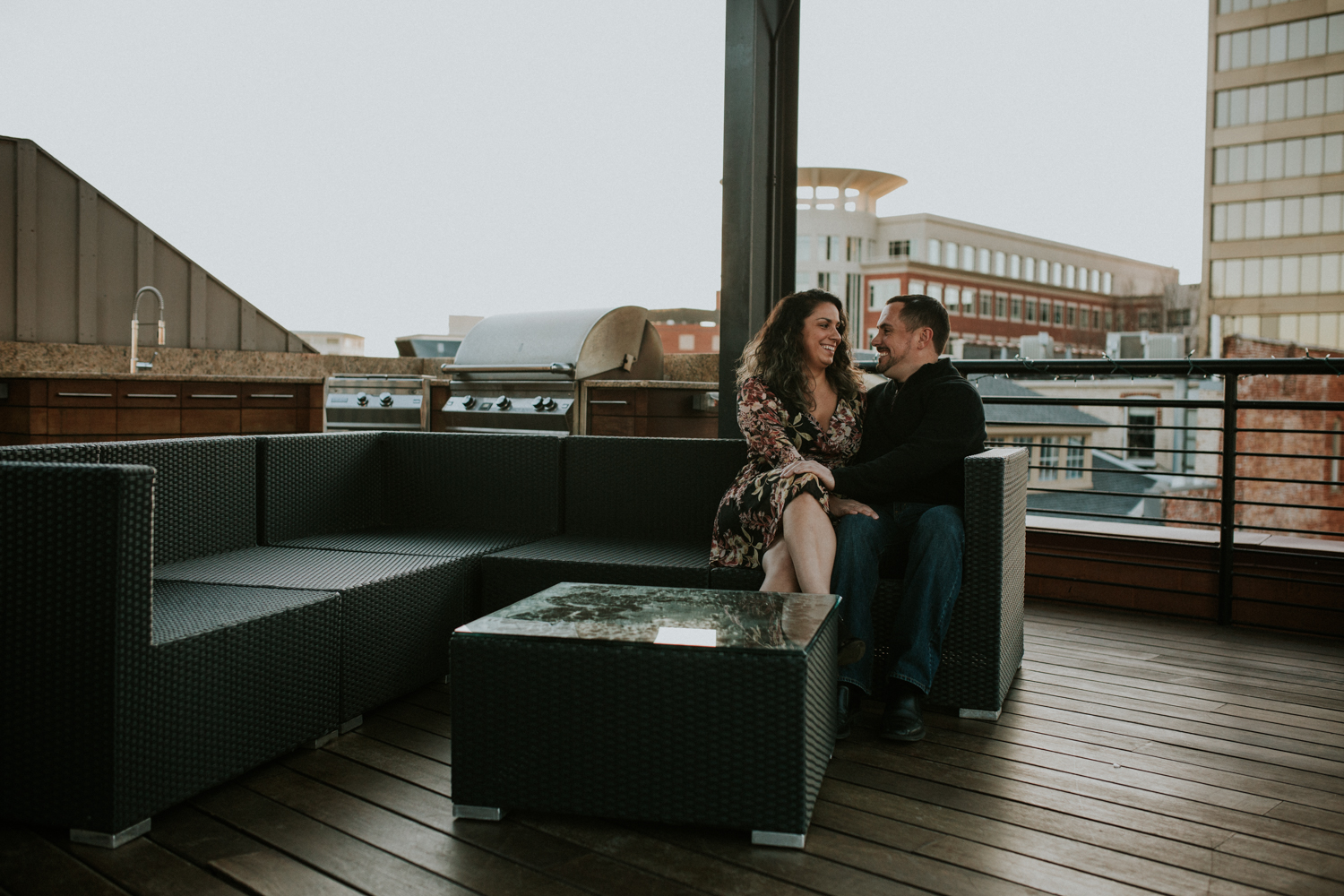 Rooftop Engagement Session Greenville SC Latoya Dixon Photography