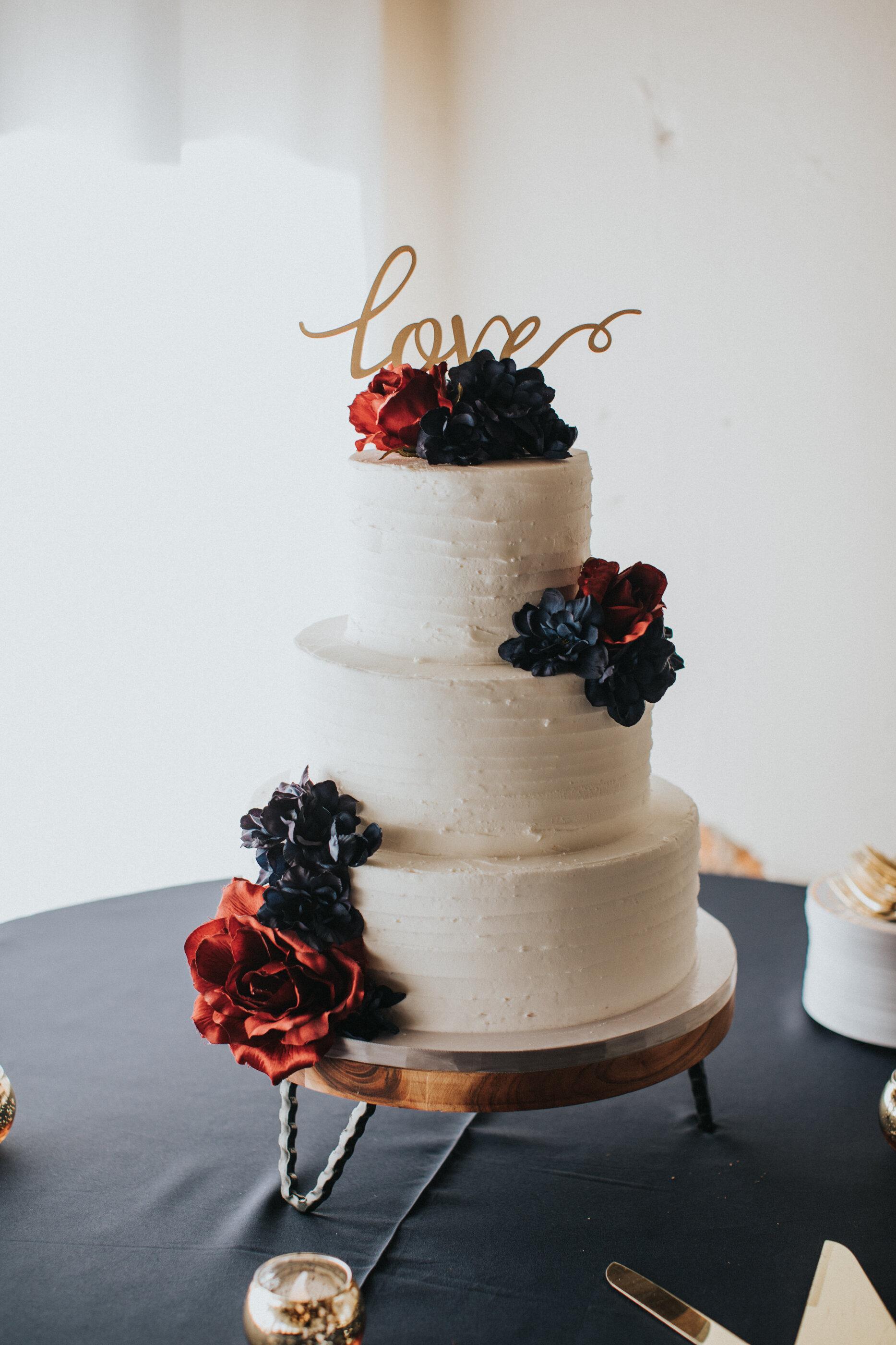 Buttercream Bakehouse Wedding Cake at Artisan Traders Wedding  Greenville SC