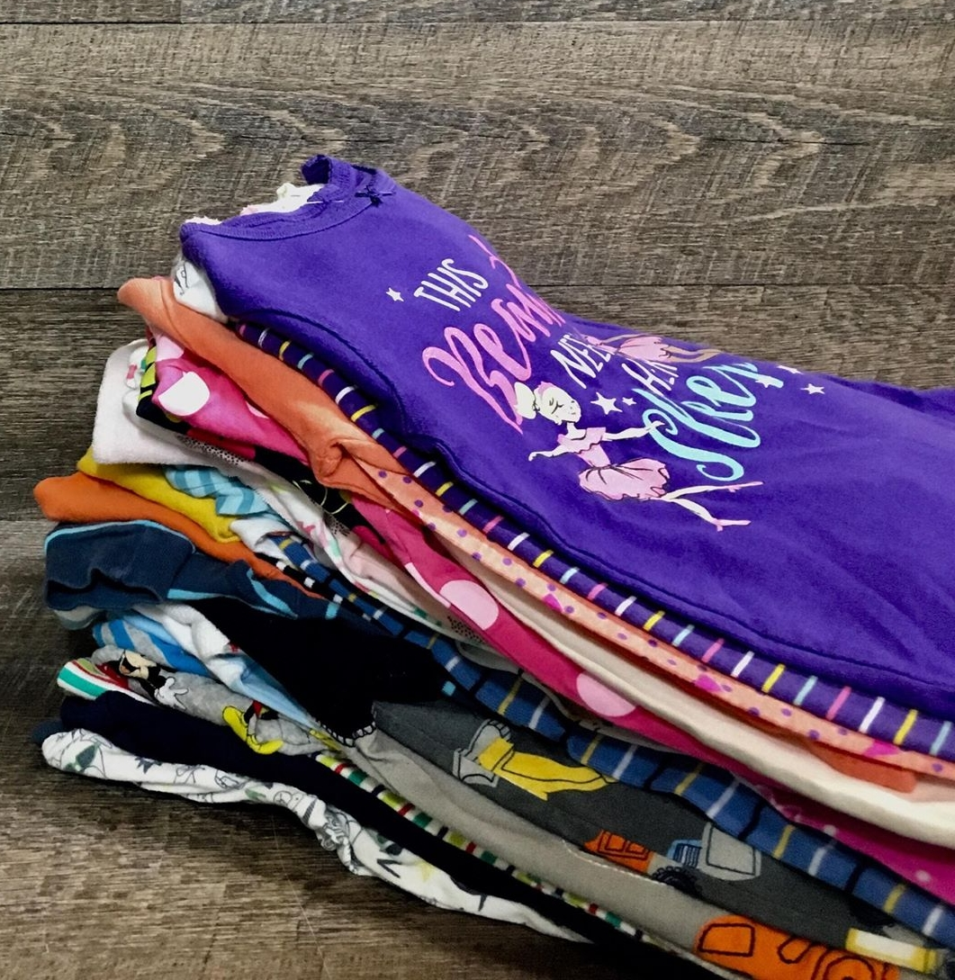 We get so excited when we see neat stacks of clothing like this!