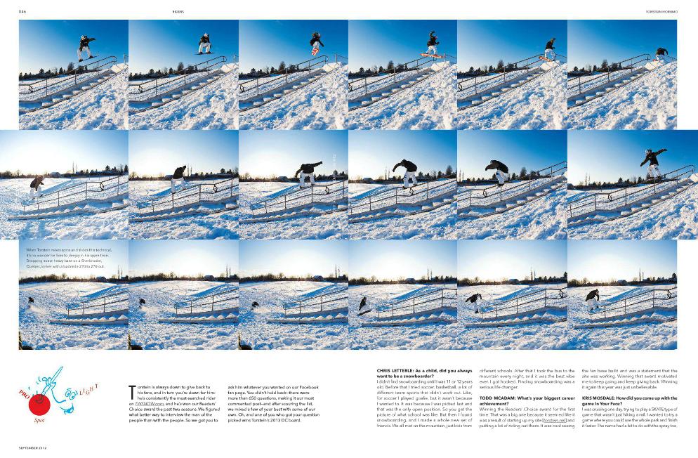 Torstein Horgmo Pro Spotlight- TransWorld SNOWboarding September 2012