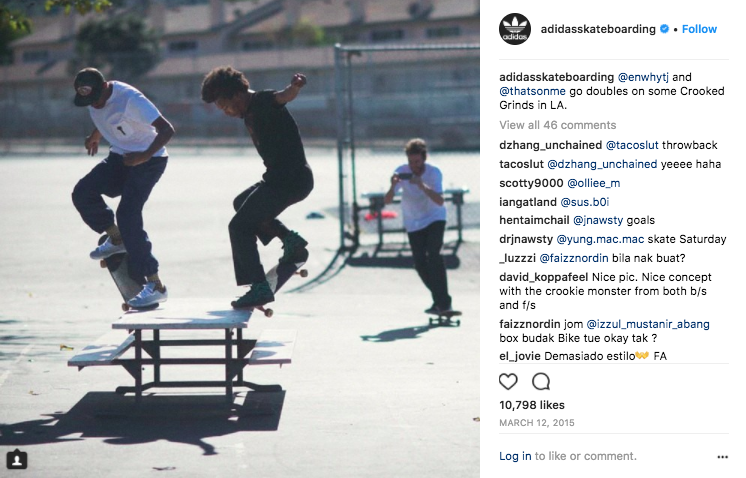 Action focused posts for adidas Skateboarding. Click to view.