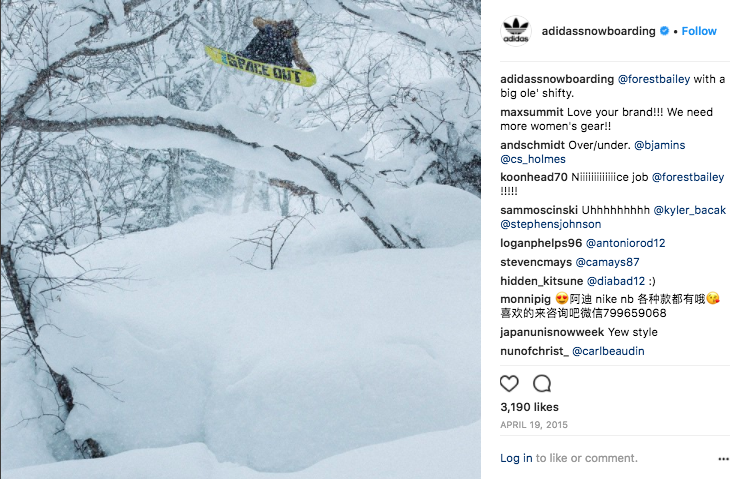 Action focused posts for adidas Snowboarding.  Click to view .