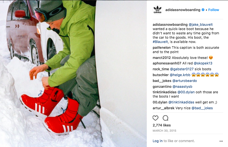 Lifestyle product posts for adidas Snowboarding.  Click to view.