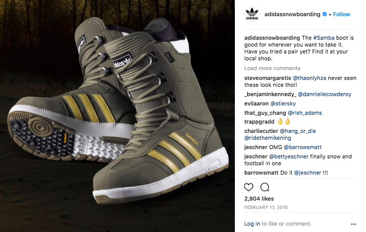 Product posts for adidas Snowboarding.  Click to view.
