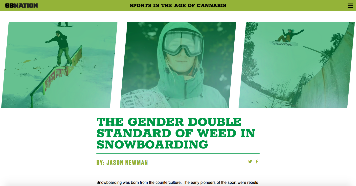 The Gender Double Standard of Weed in Snowboarding- SB Nation