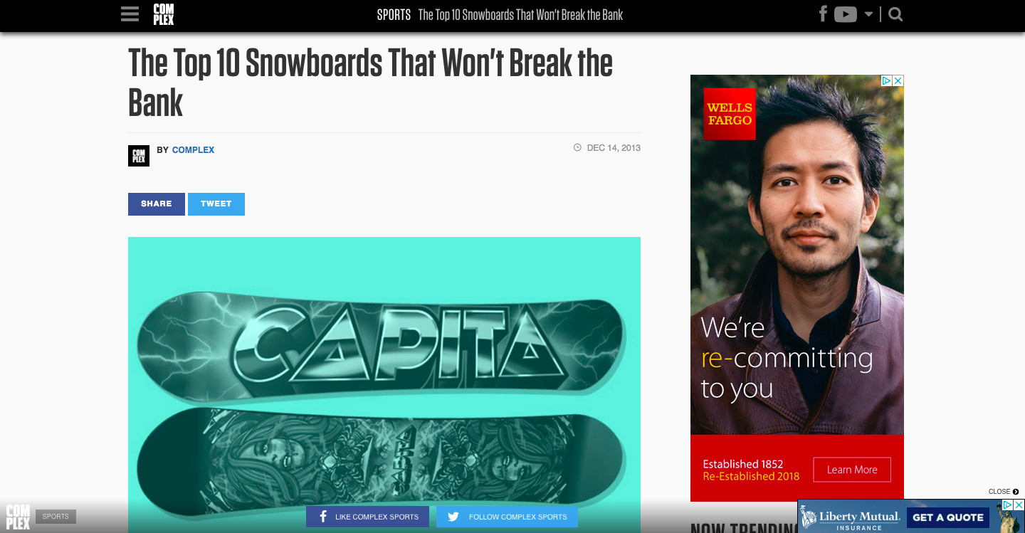 Top 10 Snowboards That Won't Break the Bank. Complex.com