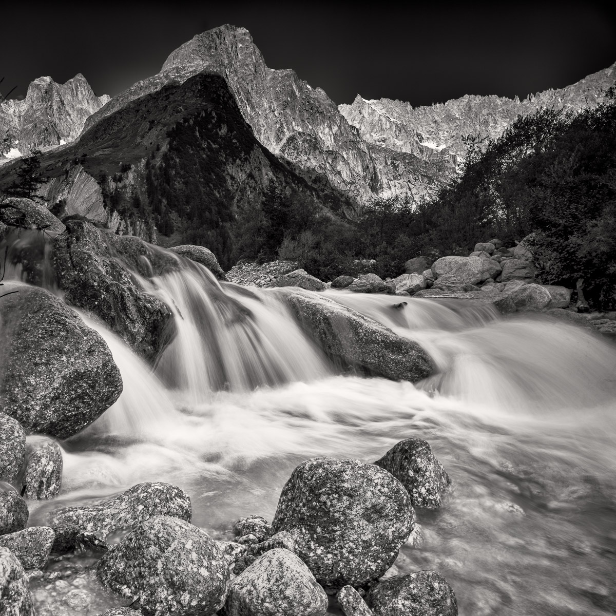 Meltwaters, Switzerland -  Nikon D810 | Nikon 24mm PC-e Tilt Shift lens shifted 7 degress | 24mm f/8.0 0.4 sec ISO 64 | Manfrotto Tripod, 3 stop Formatt Hitech filter | B+W Circular Polariser