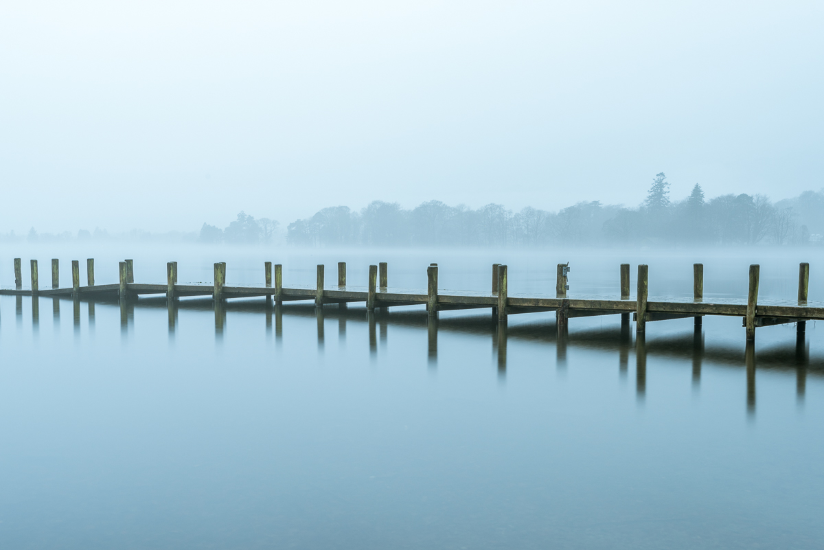 Coniston Water in the Mist - VI, Lake District UK - Nikon D810 | Nikon 16-35mm f/4.0 @ f/11 35mm 10sec ISO 64 | Manfrotto tripod and ball head, no filters.
