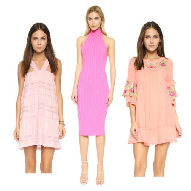 Left :  dRA Shanna Dress, $105   Center  : Cushnie Et Ochs Mock Neck, $895   Right  : RahiCali Mini Dress, $98 SHOPBOP.COM