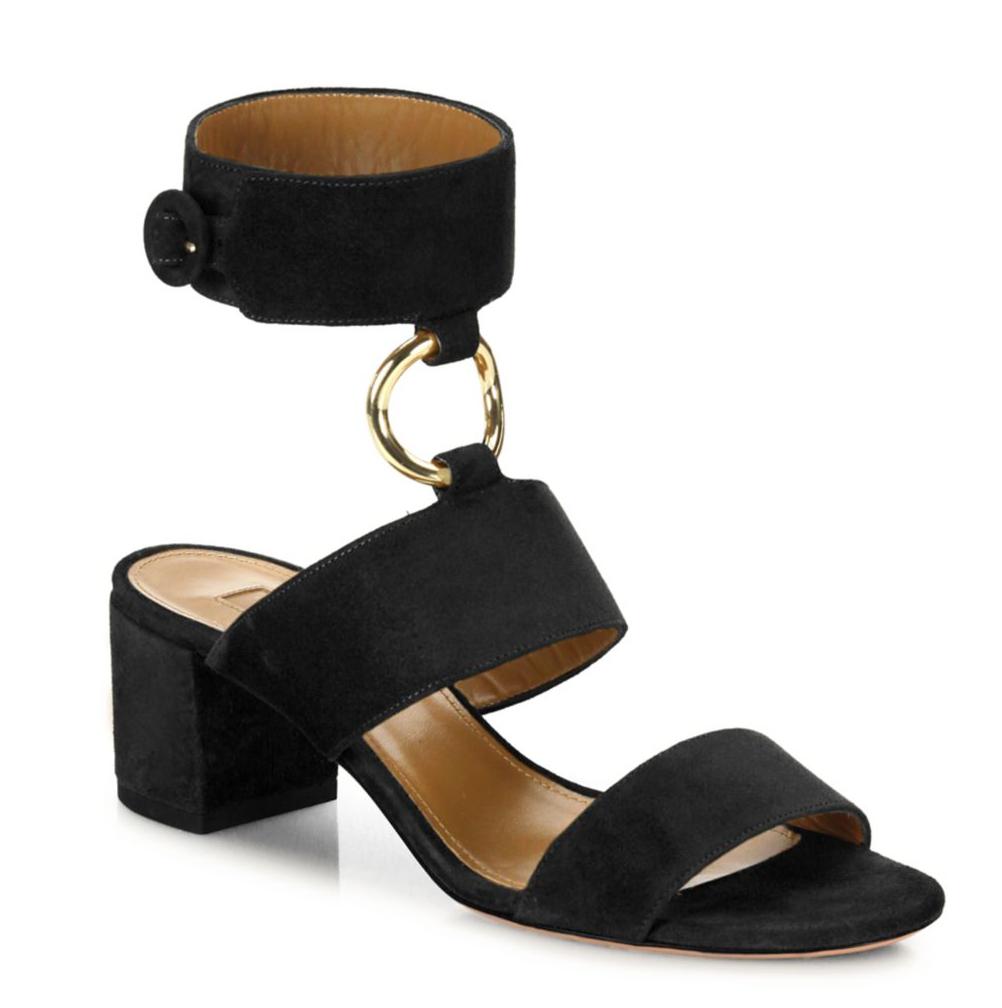 Aquazzura Block-Heel Sandals