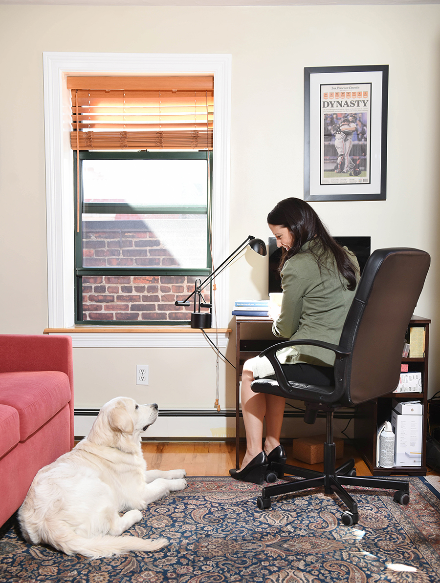 Who knew Buster was actually helping my productivity?! Photo by Pure Style Photography