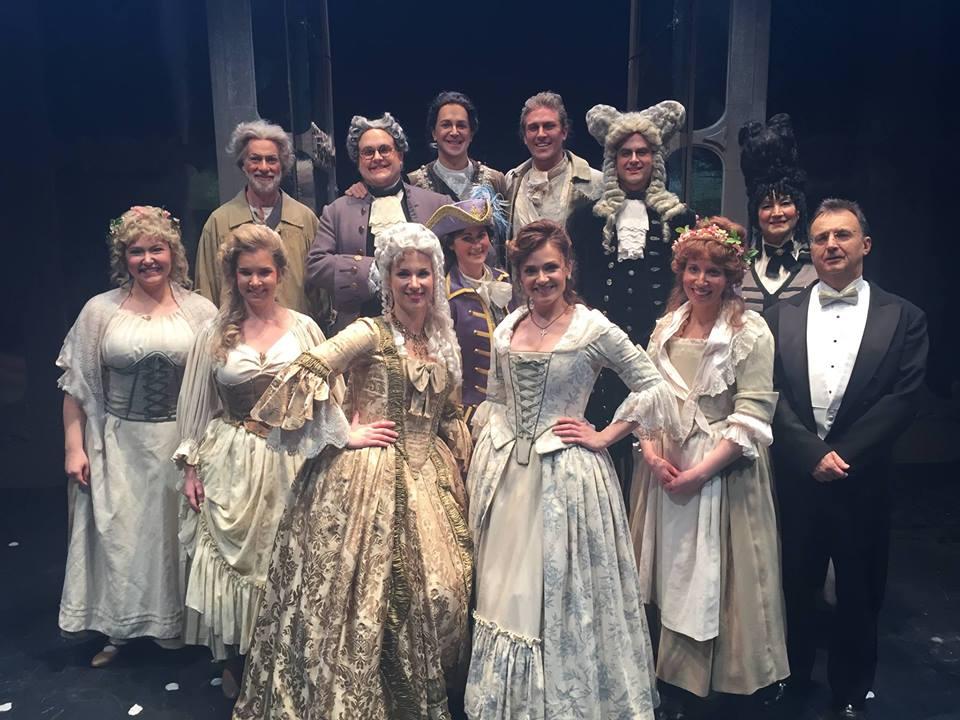 Emily (far left) as First Bridesmaid in Manitoba Opera's  Le nozze di Figaro . Winnipeg, Manitoba; November 2015.
