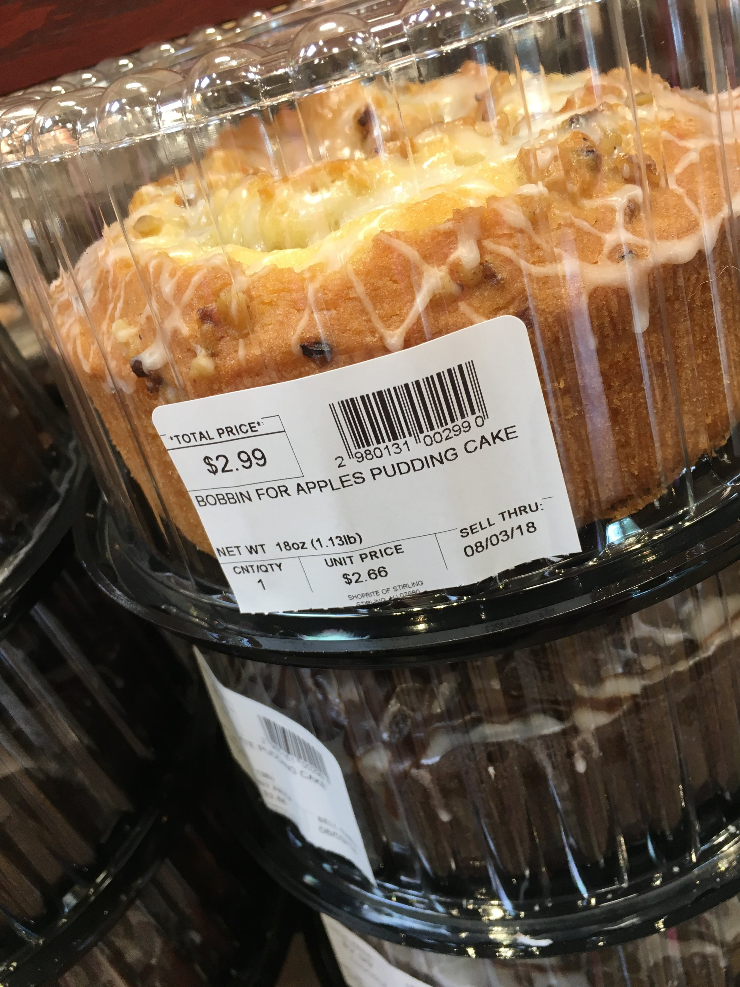 "The ""Bobbin For Apples Pudding Cake"""