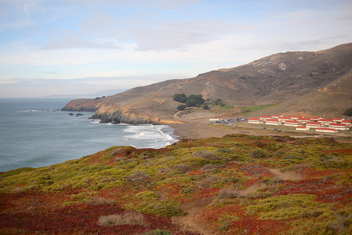 View of marin headlands and rodeo beach
