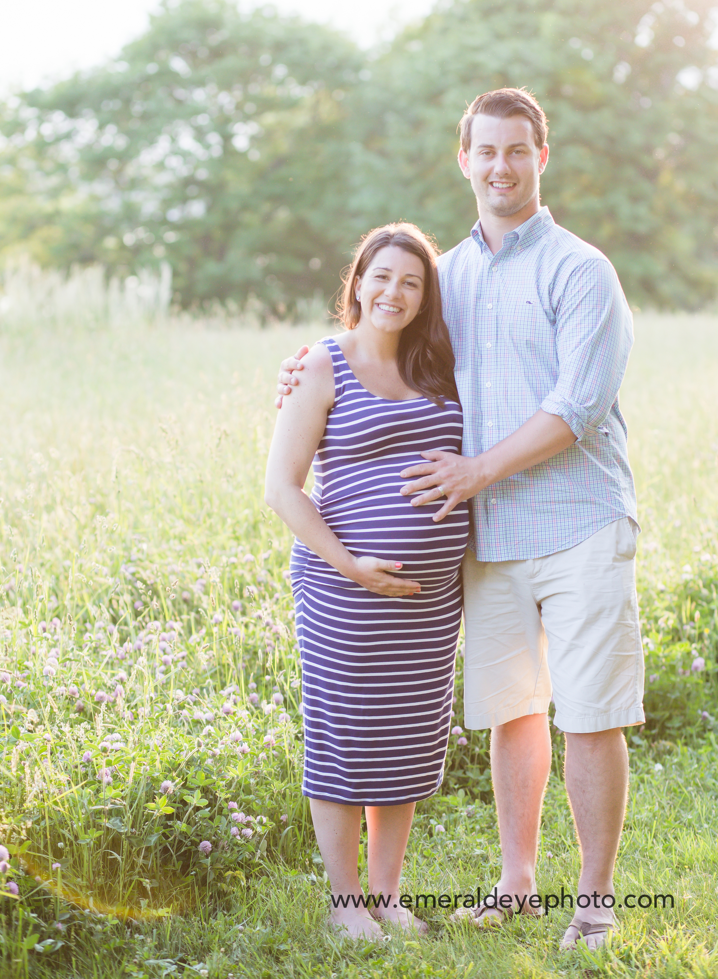 Mom and Dad Maternity session in Massachusetts