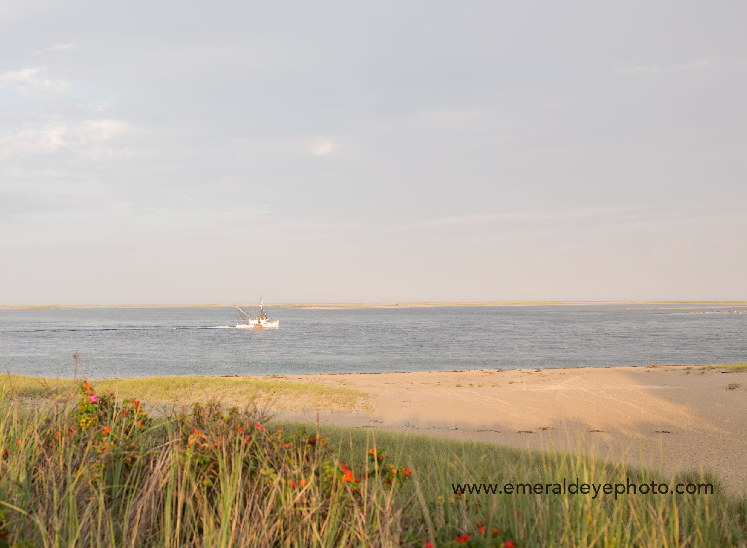 Boat in the water in Chatham Massachusetts