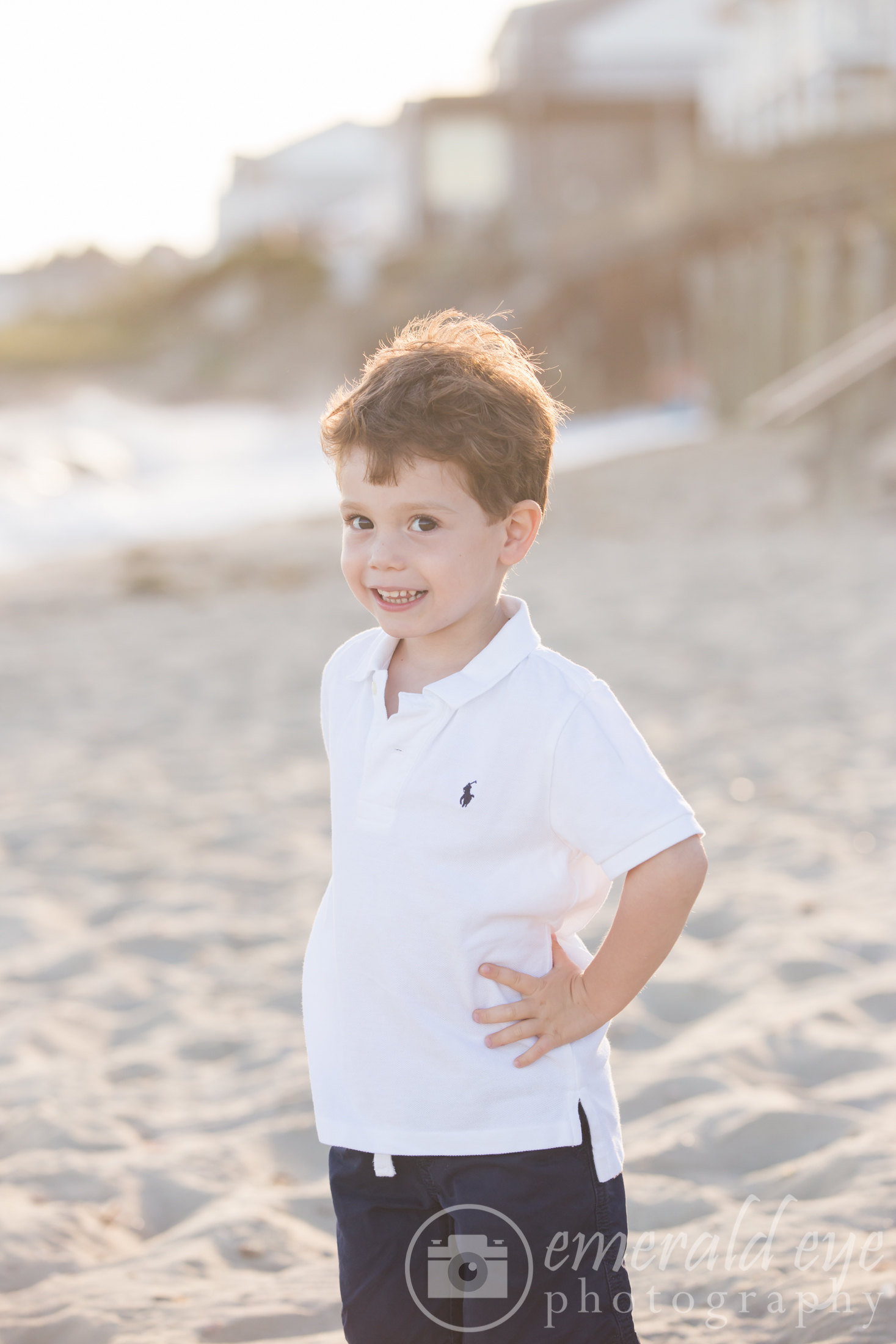 Toddler stands on a Cape Cod beach - Family photos in Massachusetts