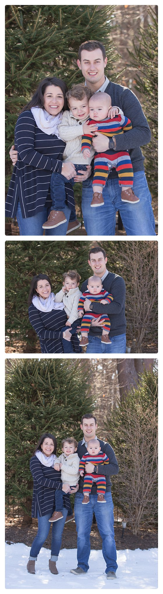 Family photos outside in Cohassett Massachusetts