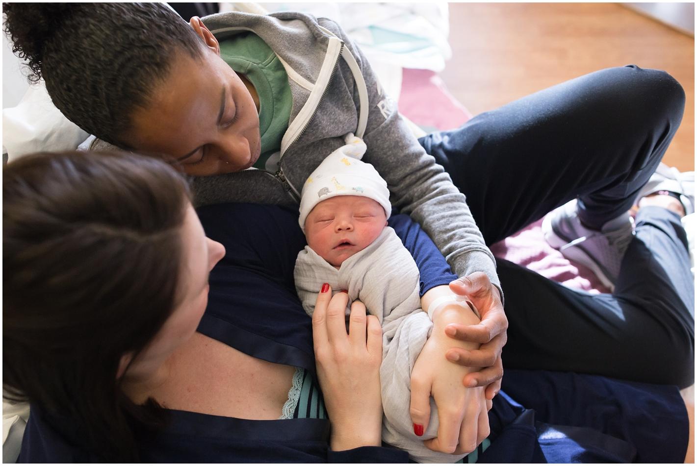 New Mom in Massachusetts newborn photographer