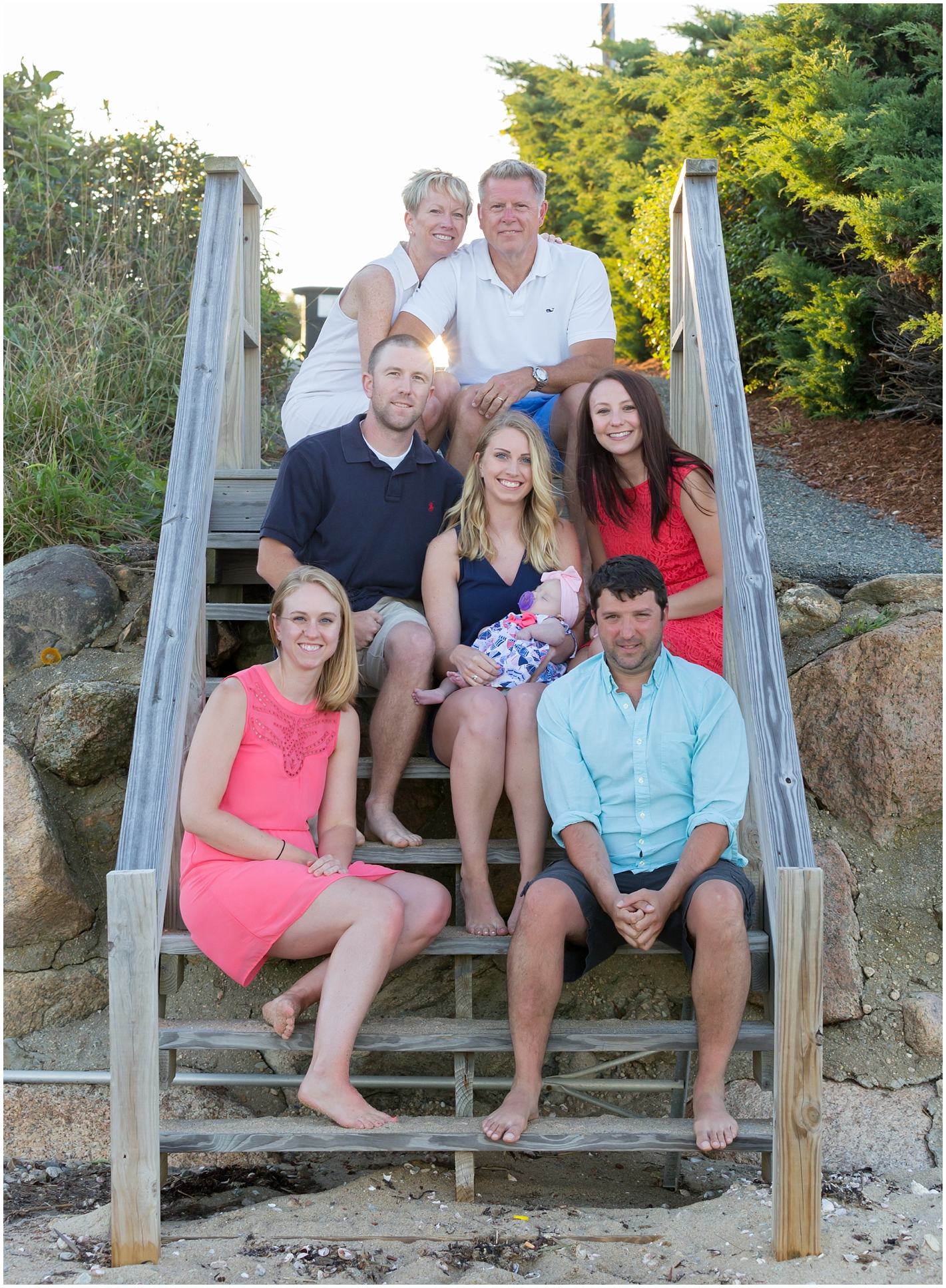 Family on Popponesset Beach, Cape Cod, Massachusetts