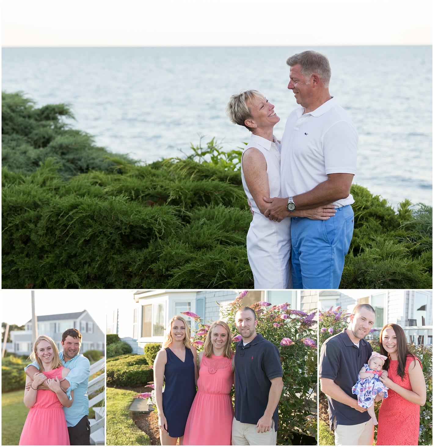 Family photo on Cape Cod, Massachusetts - Popponesset Beach