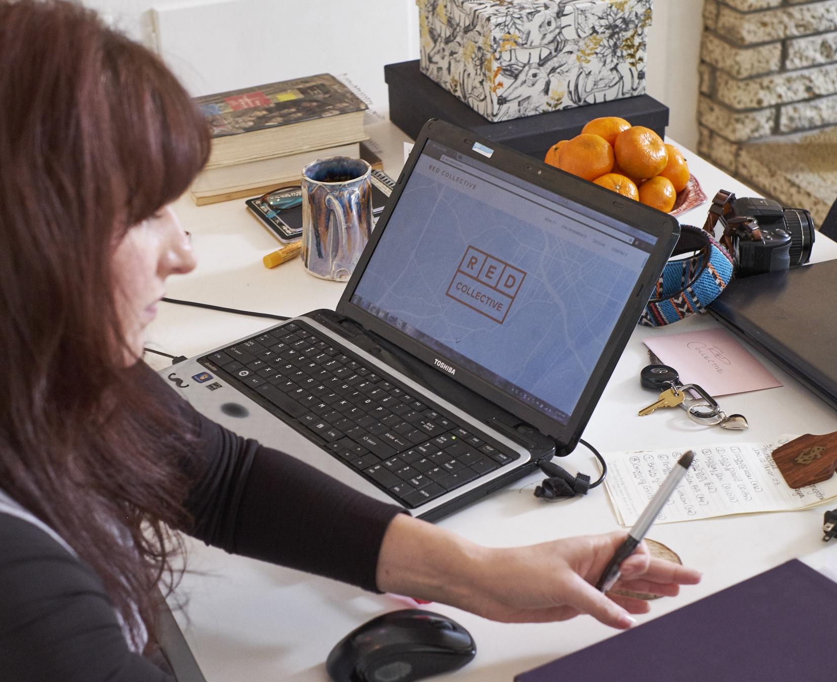 Alva  manages RED's website, social media & marketing materials