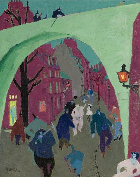 "Lyonel Feininger's ""The Green Bridge"""