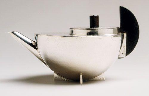 Teapot designed by Marianne Brandt