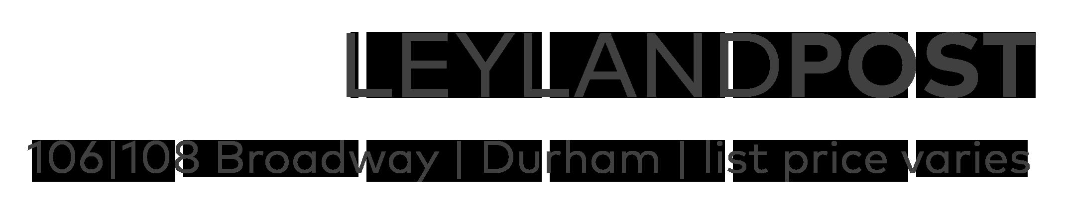 Leyland Post Luxury Condos, Durham NC