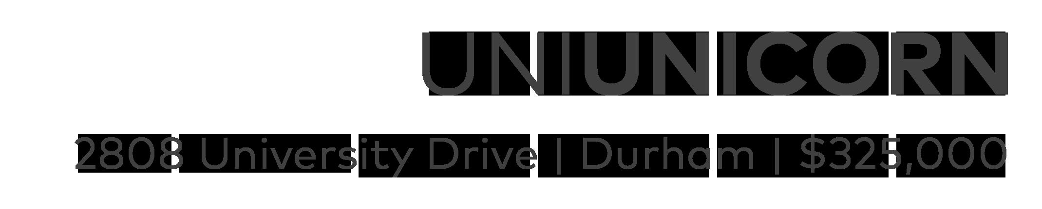 Uni Unicorn, Durham NC | Listing Agent: Susan Ungerleider of RED Collective