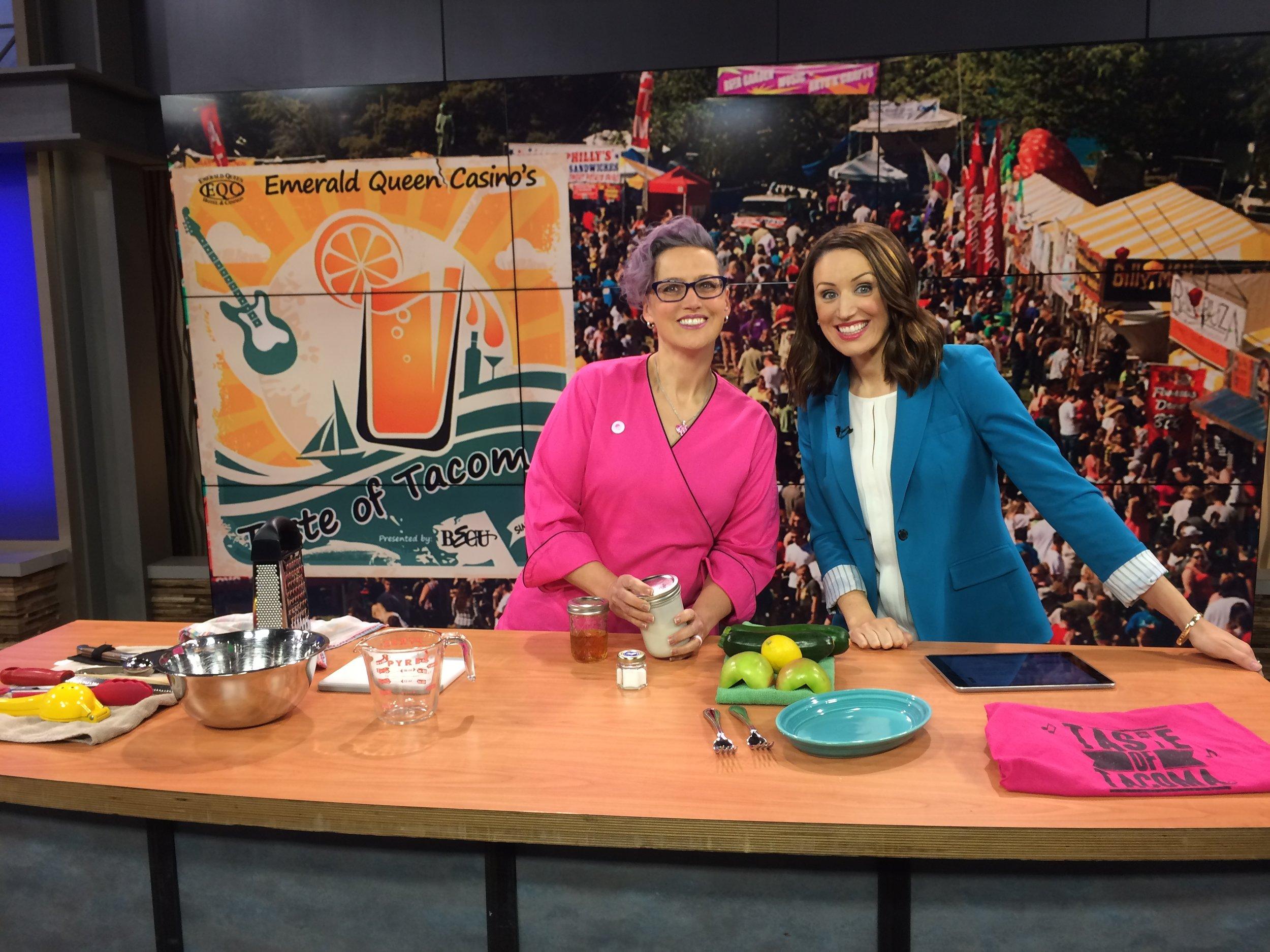 Chef Aura on Q13 Fox  for Taste - 1.JPG