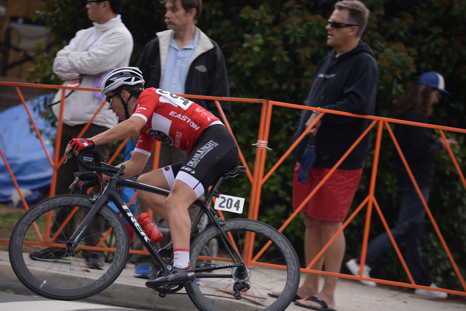 Kyle in the crit, leaning the corner.