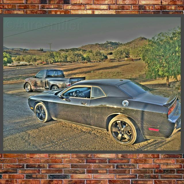 Out playing in the SoCal mountains.  #svt #ford #lightning #svtlightning #dodge #challenger #love #tiresniffer #srt #rt #mopar #dodgechallenger #musclecar #muscletruck