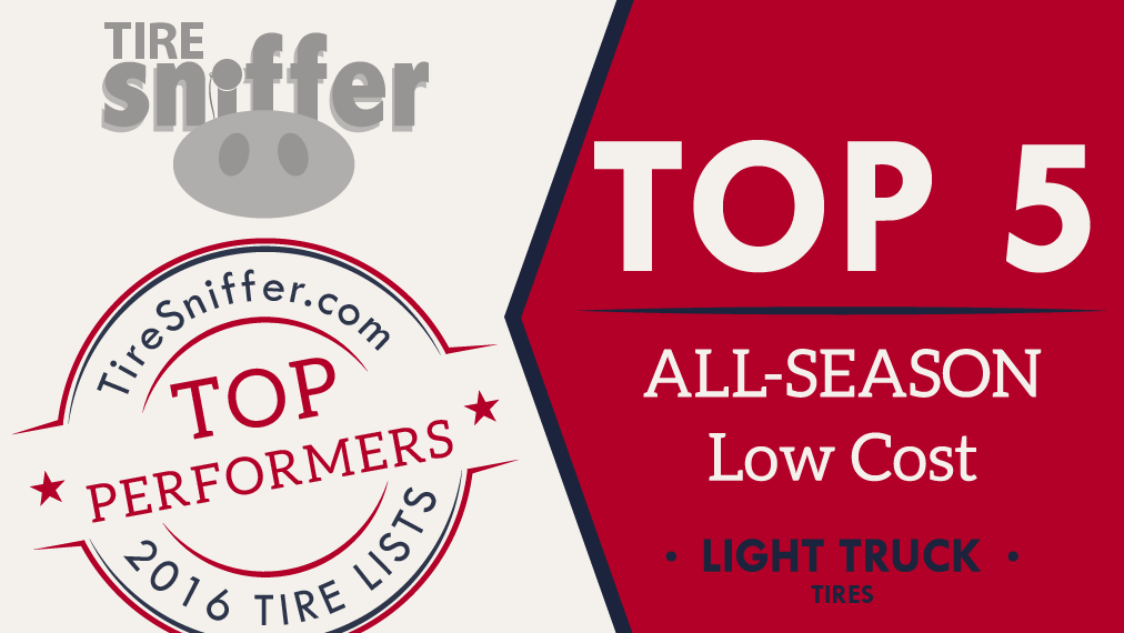 TOP 5 Low Cost All-Season Light Truck Tires List for 2016