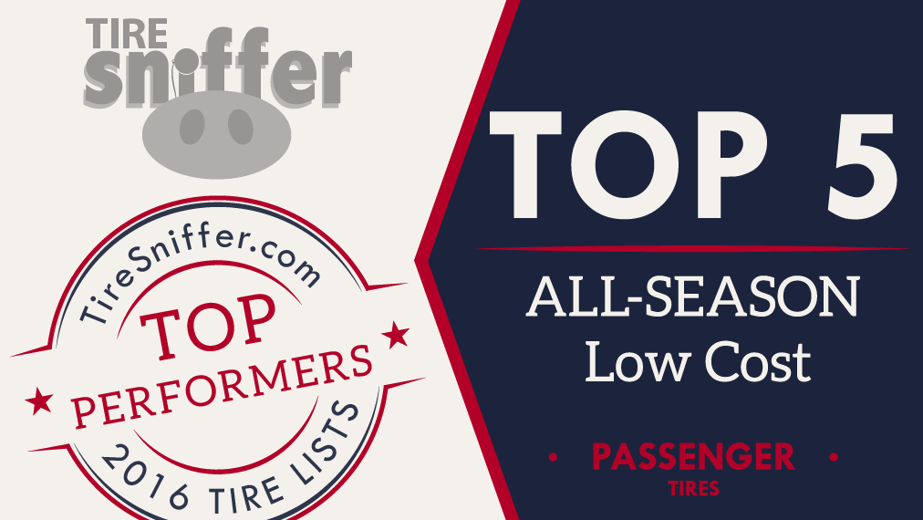 TOP 5 Low Cost All-Season Tires List for 2016