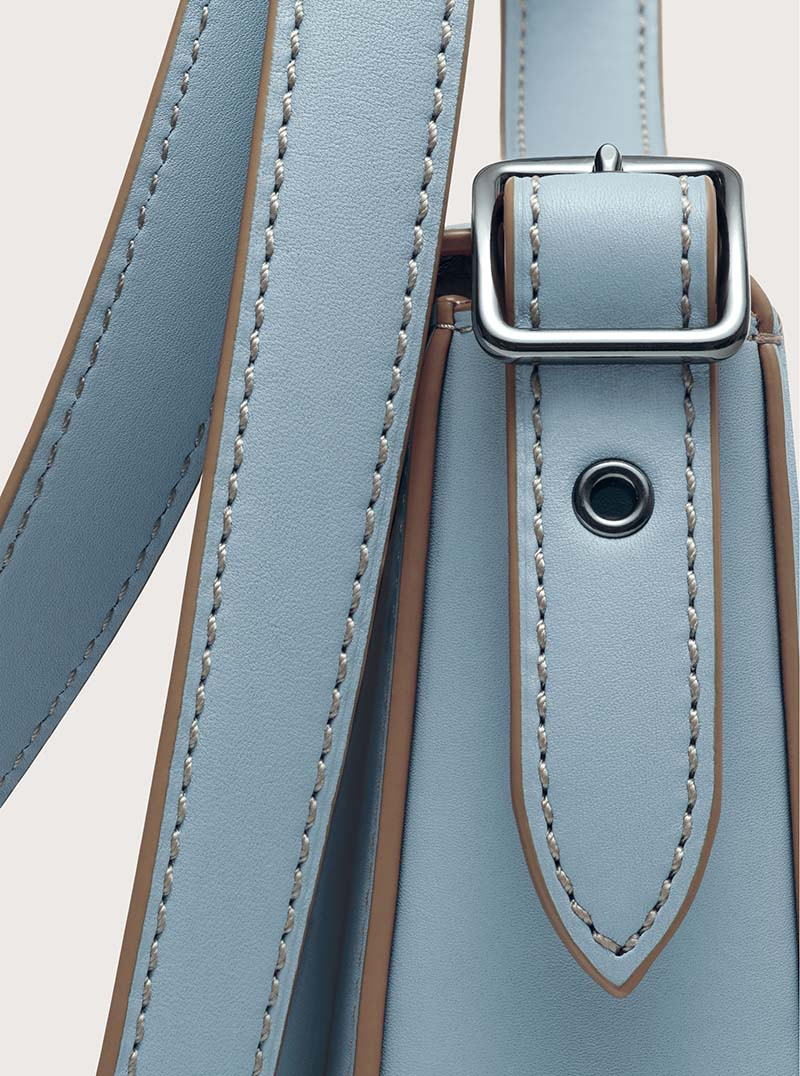 cartera coach azul gris para usar cruzada comprar online