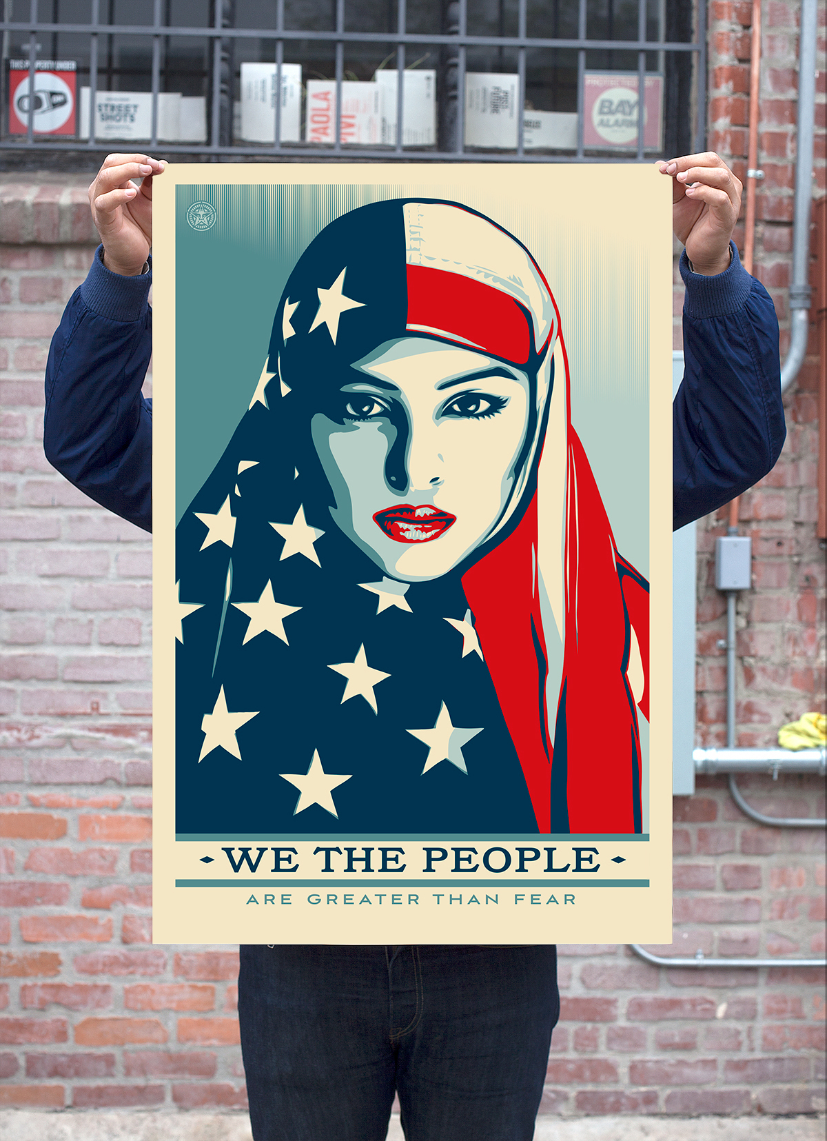 Poster by Shepard Fairey via Amplifier Foundation.