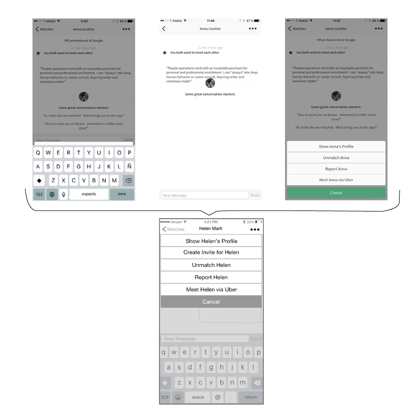 In the current version it takes three screens with the keyboard present to be able to see the menu, with the redesign, even if the keyboard is present, it only takes one.