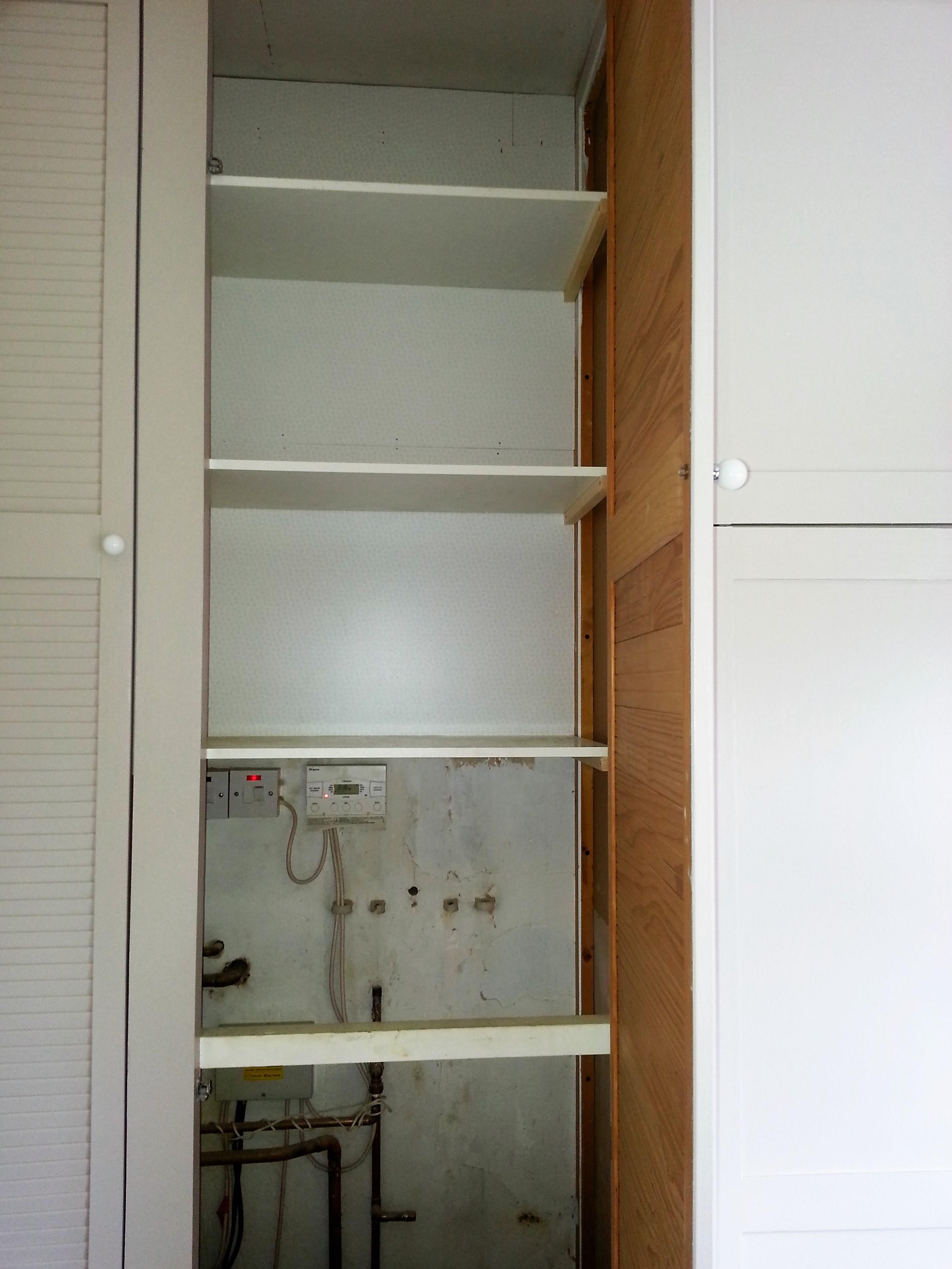 Boiler Cupboard & Shelving