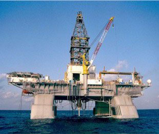 The Deepwater Horizon oil rig prior to its destruction.