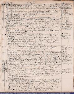 A page from Martha Ballard's diary, Feb 3-12, 1800