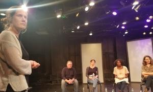 EST/Sloan Associate Director Linsay Firman fielding a question from the audience.