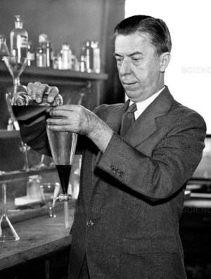 Dr. Alexander Gettler in his lab in the 1920s