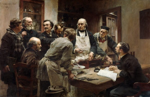The Lesson of Claude Bernard or Session at the Vivisection Laboratory by Léon Augustin Lhermitte (1889)