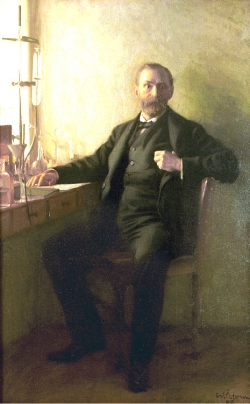 Portrait of Alfred Nobel by Emil Osterman. Image provided by the Nobel Foundation.