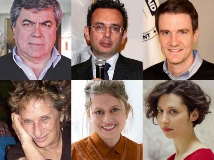 Clockwise from top left: Jorge Odón. Mario Merialdi, David Milestone, Sonia Shechet Epstein, Chiara Atik, Claudia Weill