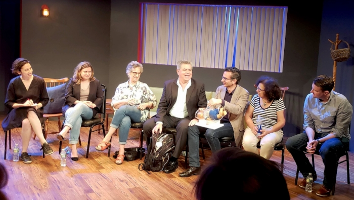 From left: Sonia Shechet Epstein, Chiara Atik, Claudia Weill, Jorge Odón, Mario Merialdi, translator Rosa Rivera, and David Milestone