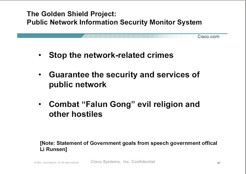 Slide from a leaked internal 2002 Cisco presentation.  Read more in Wired article.