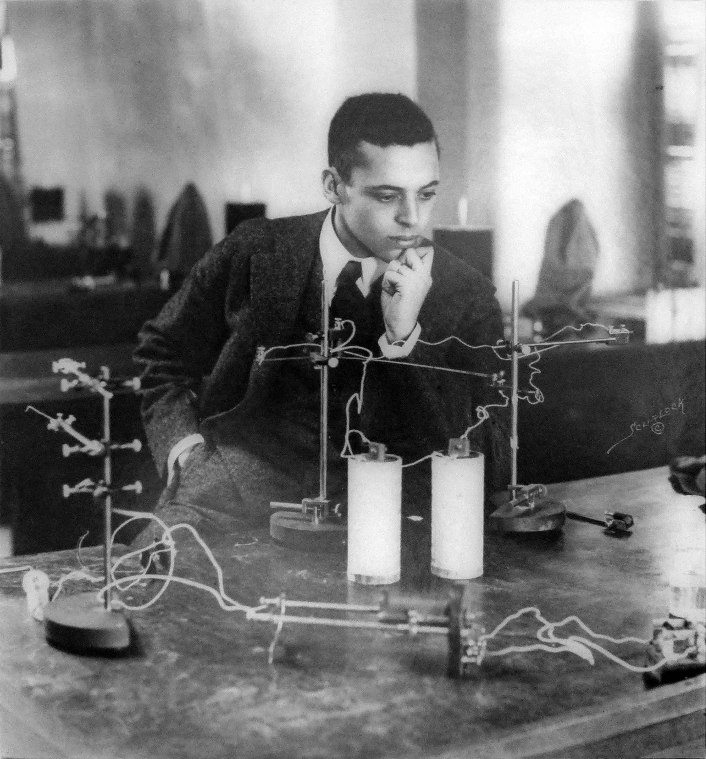 Ernest Everett Just in his lab at Howard University