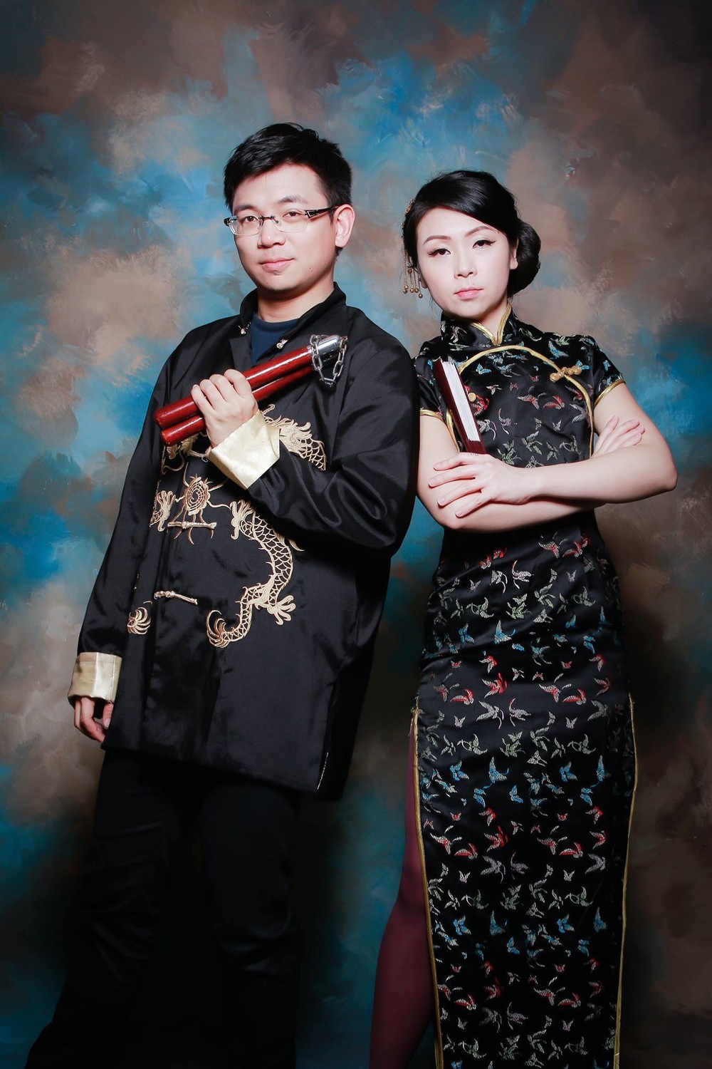 Chin Liu and her brother, posing for a photo in Taipei studio in 2015. Photo courtesy of Chin Lu, from  http://www.vice.com/en_au/read/the-not-quite-american-feeling-of-being-a-15-generation-immigrant